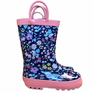NWT Carter's navy floral rain boots